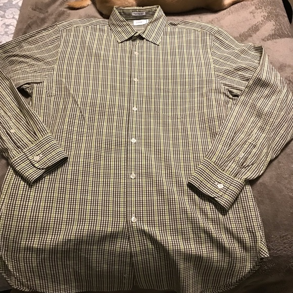 Jcrew plaid button down in greens in plaid